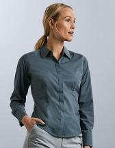 Ladies´ Long Sleeve Fitted Polycotton Poplin Shirt